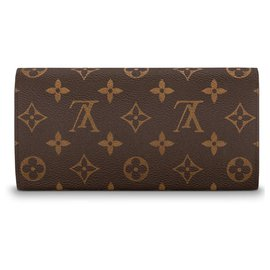 Louis Vuitton-Portefeuille Emilie nouveau LV-Marron