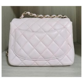 Chanel-Chanel light pink mini classic flap bag-Pink