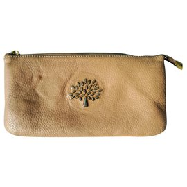 Mulberry-Mulberry 390207 Full grain Leather Purse / Wallet-Beige