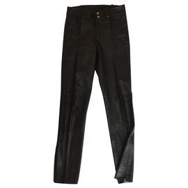 Gucci-Pantalon en cuir IT 38-Noir