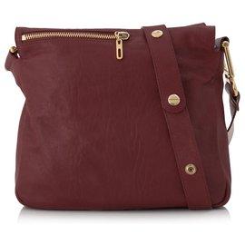 Chloé-Chloe Red Vanessa Leather Shoulder Bag-Red,Other