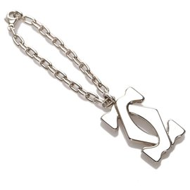 Cartier-Cartier Silver lined C Charm-Silvery