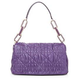 Dior-Sac à bandoulière en cuir Dior Cannage Delices Violet-Violet