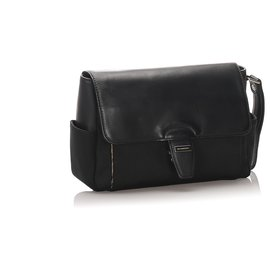 Burberry-Burberry Black Canvas Clutch Bag-Black