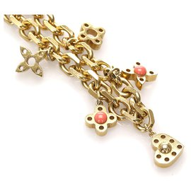Louis Vuitton-Louis Vuitton Gold Monogram Chain Necklace-Golden