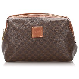 Céline-Celine Brown Macadam Pouch-Brown,Dark brown