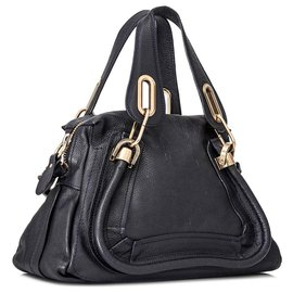 Chloé-Chloe Black Paraty Leather Satchel-Black