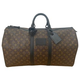 Louis Vuitton-keepall 55 Wasserdicht-Braun