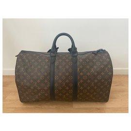 Louis Vuitton-keepall 55 waterproof-Brown