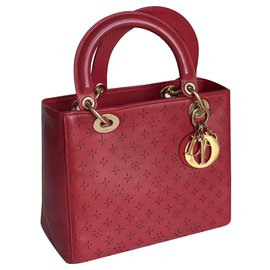 Dior-Handbags-Dark red