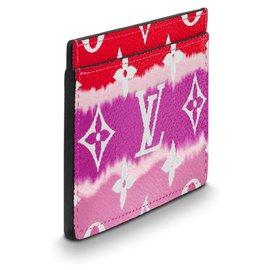 Louis Vuitton-Porte-cartes nouveau LV-Rouge