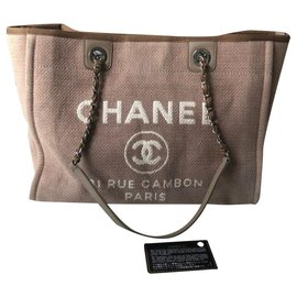Chanel-Chanel medium Deauville tote bag-Beige