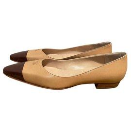 Chanel-Ballet flats-Brown,Beige