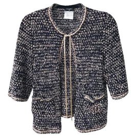 Chanel-CC logo and chain cardigan-Multiple colors