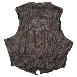 Issey Miyake-Vintage wrinkled vest-Multiple colors