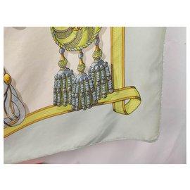 Hermès-frontal and roundels-White,Golden,Light blue