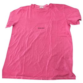 Saint Laurent-SAINT LAURENT MEN'S PINK LOGO T-SHIRT   SIZE. l-Pink