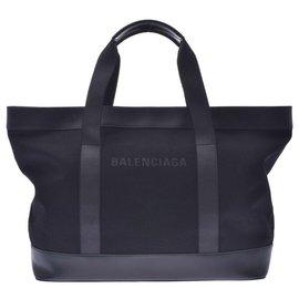 Balenciaga-Balenciaga Navy Cabas-Black