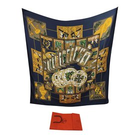 Hermès-das Tarot-Golden,Grün,Dunkelblau