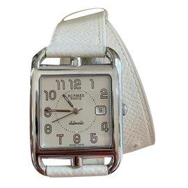 Hermès-Hermes Cape Cod watch lined tour GM automatic-Cream