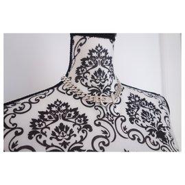 Hermès-COLLIER HERMES SELLIER-Argenté