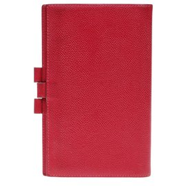 Hermès-Diary holder in red epsom leather-Red