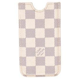 Louis Vuitton-Etui Iphone en toile damier azur-Beige