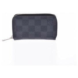 Louis Vuitton-Porte-monnaie Louis Vuitton Zippy-Gris