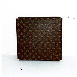 Louis Vuitton-Rare grand boîtier de collier de voyage monogramme-Marron