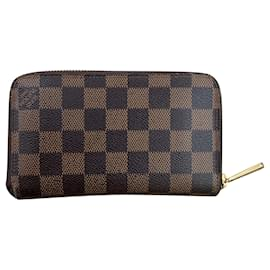 Louis Vuitton-Portefeuille compact Zippy-Marron