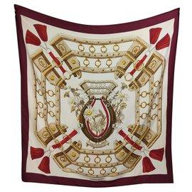 Hermès-Auf den Feldern-Weiß,Rot,Bordeaux