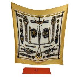 Hermès-Präsidentengeschirr, Selten!-Weiß,Gelb,Bronze