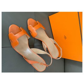 Hermès-Hermès - Nachtsandalen-Orange