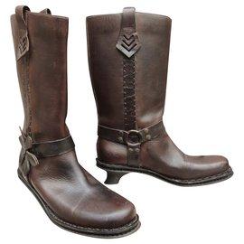 Fendi-Fendi p boots 39,5 new condition-Dark brown