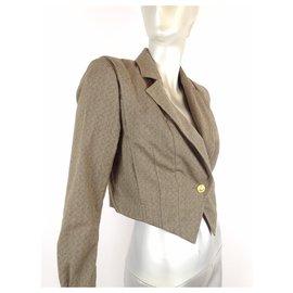Yves Saint Laurent-Yves Saint Laurent Wool Blazer-Bronze