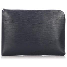 Louis Vuitton-Louis Vuitton Black Epi Pochette Jour-Noir