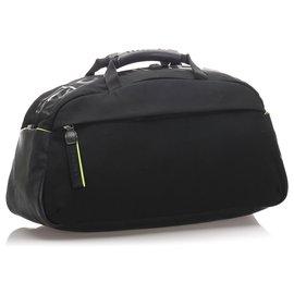 Chanel-Chanel Black Sports Line Nylon Duffle Bag-Black