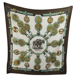 Hermès-Cuivreries-Brown,Golden,Eggshell,Bronze,Turquoise