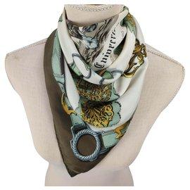 Hermès-Cuivreries-Braun,Golden,Aus weiß,Bronze,Türkis
