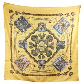 Hermès-die Trommeln-Weiß,Blau,Golden,Gelb,Bronze