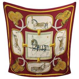 Hermès-Großartiges Apparat ( ROUGE)-Weiß,Rot,Golden