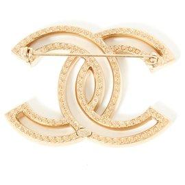 Chanel-große ccm GOLDENE REINSTEINE-Golden