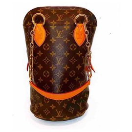 Louis Vuitton-Rare LV x Karl Lagerfeld Baby Punching Chain Tote Bag-Brown