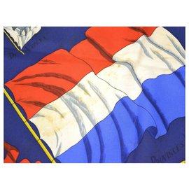 Hermès-Hermès scarf-Navy blue