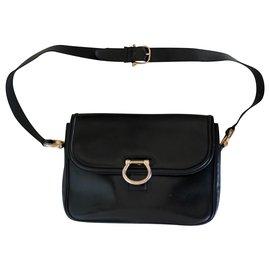 Céline-CELINE CLASSIC SHOULDER BAG-Navy blue