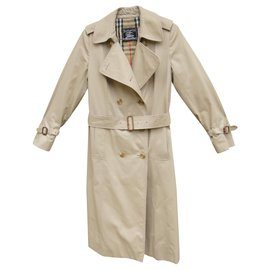 Burberry-womens Burberry vintage t trench coat 38-Beige