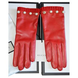 Gucci-gants gucci taille 8 NEW-Rouge