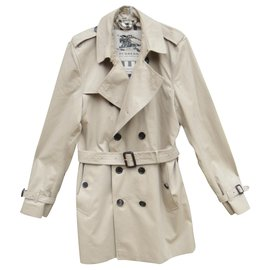 Burberry-Burberry men's trench Kensigton model perfect condition t 50-Beige
