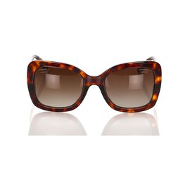 Chanel-Chanel Brown Butterfly Tinted Sunglasses-Brown,Dark brown