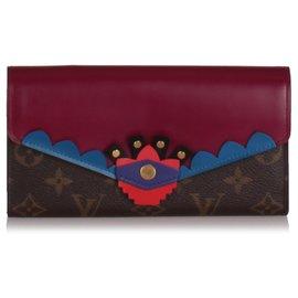 Louis Vuitton-Louis Vuitton Brown Monogram Totem Sarah Wallet-Brown,Red,Other